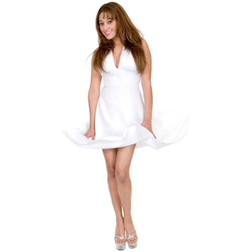 (Charades Women's Starlet Halter Dress, White,)