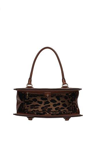 Borse a Mano Dolce&Gabbana Donna Pelle Marrone e Oro BB5684B61658H004 Marrone 15x27x36 cm