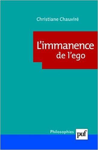 Limmanence de lego - sujet et subjectivite chez wittgenstein Philosophies: Amazon.es: Christiane Chauviré: Libros en idiomas extranjeros