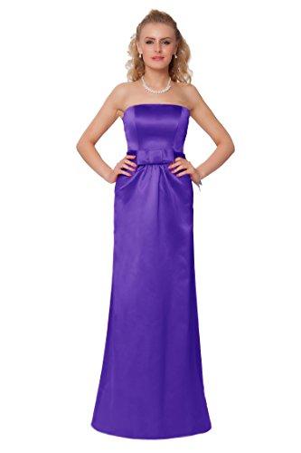 SEXYHER Gorgeous Full Length Strapless Bridesmaids Formal Evening Dress - EDJ1460 Cadburypurple