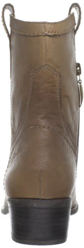 GUESS Womens Gennette Leather Almond Toe Ankle Cowboy Boots Taupe w3Mmnx