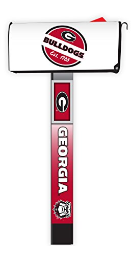 Georgia Bulldogs Magnetic Mailbox Cover 2-Pack Mailbox Post Cover (Georgia Bulldog Mailbox Cover)