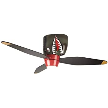 Hunter space discovery 48 in brushed nickel ceiling fan with earth craftmade kids ceiling fan boys wb348ts tiger shark warplane with light 48 inch 3 blade hugger ceiling fan wb348ts3 aloadofball Images