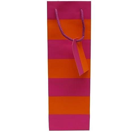 Amazon.com: JAM papel®, color rosa y naranja rayas vino ...