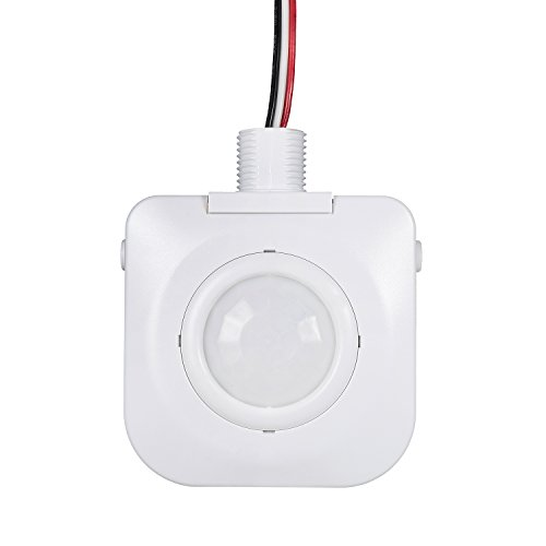 Passive Infrared Sensor - Ceiling Occupancy Motion Sensor - Passive Infrared Technology - High Bay Fixture Mount 360 Degree - By Dependable Direct, Hard-Wired, 120-277VAC, Commercial/Industrial Grade, White