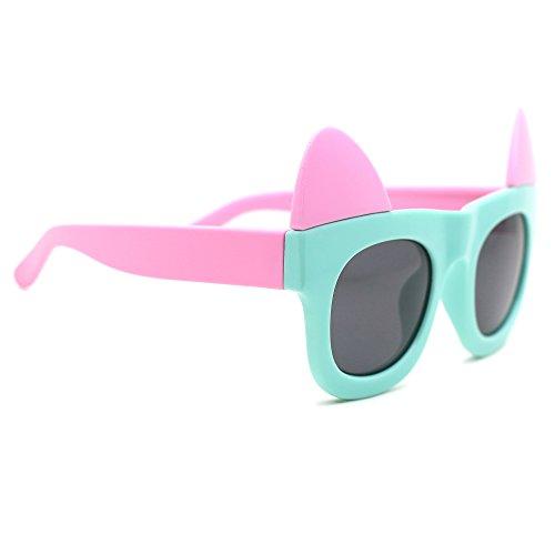 TIJN Kids Cat Ear Polarized Sunglasses for Boys Girls - Sunglasses Toddler Designer