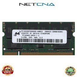 ALIEN-512-PC3200-S 512MB Alienware Notebook DDR400 PC3200 SODIMM 100% Compatible memory by NETCNA (Sodimm Ddr400 512mb Notebook Memory)