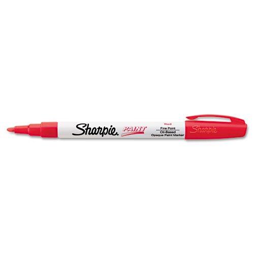 Sharpie Permanent Paint Marker, Fine Point, Red