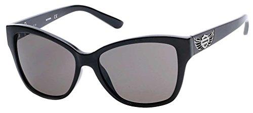 n's Crystal Winged B&S Sunglasses, Black Frames/Smoke Lens (Harley Davidson Prescription Sunglasses)
