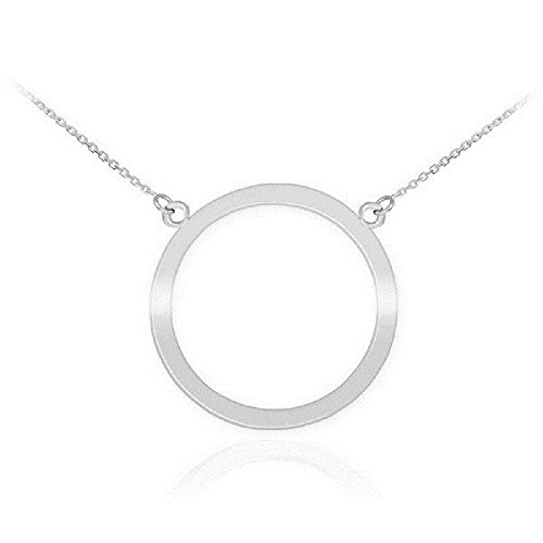 925 Sterling Silver Circle of Life Pendant Karma Necklace, 16