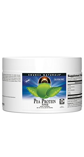 Source Naturals Pea Protein Powder 100% Hypoallergenic, Gluten Free & Vegan Friendly Plant Based Nutrition - 16 oz