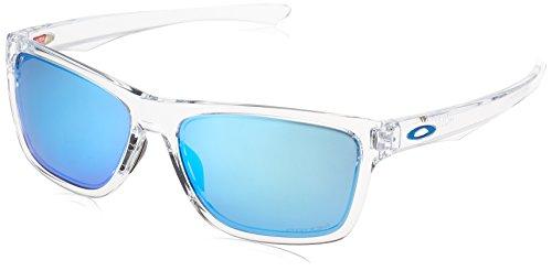 Oakley Men's OO9334 Holston Rectangular Sunglasses, Polished Clear/Prizm Sapphire, 58 ()