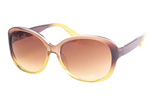 SojoS Chic Fashion Colorful Big Huge Frame Oversized Square Classic Women Sunglasses With Yellow Frame/Brown Lens (Zara Sunglasses Woman)
