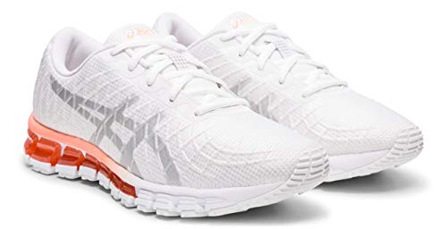 ASICS Women's Gel-Quantum 180 4 Running Shoes, 8.5M, White/Silver
