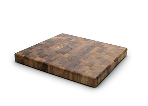 Ironwood Gourmet 28218 Square Charleston End Grain Chef's Board , Acacia (Dark Wood Cutting Board)