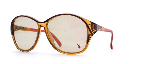 Playboy 4559 30 Brown Authentic Women Vintage - Playboy Sunglasses