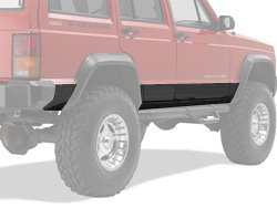 Warrior Products 935PC Powder Coated 4-Door Side Plates for Jeep Cherokee 84-01 ()