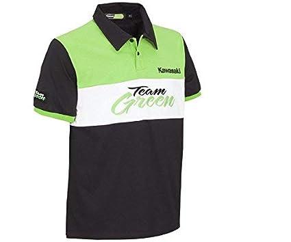 Kawasaki Team Green Polo Hombre - Negro, M/L: Amazon.es: Ropa y ...