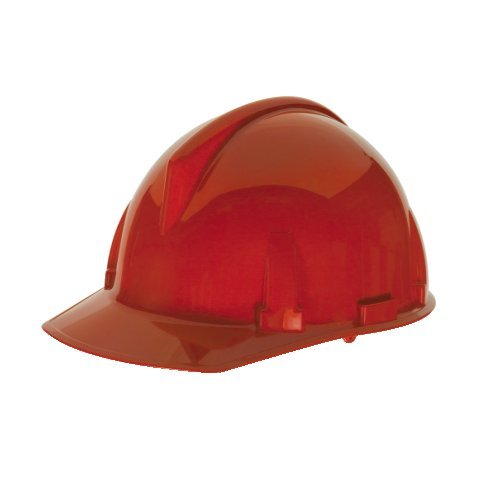 Topgard Protective Caps (MSA Safety 475384 Topgard Slotted Protective Cap with Fas-Trac Suspension, Standard, Red)