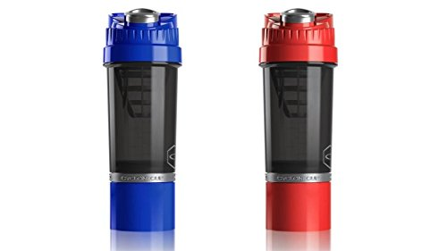 Cyclone Cup Shaker Bottle 20oz - Set of 2 - Blue and Red