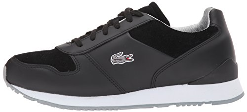 Lacoste Men's trajet 417 3 Sneaker, Black, 11 M US