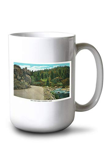 Colorado - Denver Mountain Parks, Bear Creek Canyon View at Evergreen Corner (15oz White Ceramic Mug)