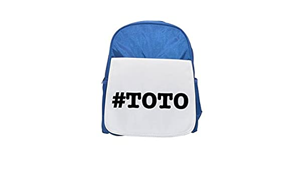 NICKNAMES Toto nickname Hashtag Printed Kid s blue Backpack, cute Backpacks, cute small Backpacks, cute Black Backpack, Cool Black Backpack, ...