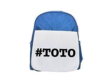 Apodos de Toto apodo Hashtag impreso Kid s azul mochila, para mochilas, cute