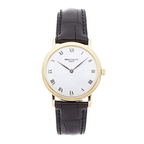 Patek Philippe Calatrava Mechanical (Automatic) White Dial Mens Watch (Certified - Mechanical Watch Calatrava Philippe Patek