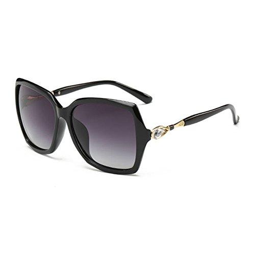 de Conducción Mujer Polarizadas DT Moda Cara Gafas Cara Sol Mujer Redonda de 1 Sol Diamante de Gafas Color Polarizador Gafas Sol Larga qqXt6