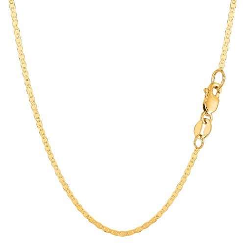 10k Yellow Gold Mariner Link Chain Necklace, 1.7mm, 20