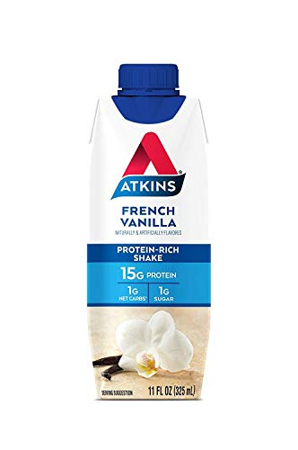 Atkins Ready to Drink Shake, French Vanilla, Gluten Free, (15 Count)
