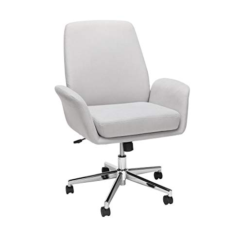 OFM Core Collection Modern Fabric Upholstered Office Chair, Cushioned Arm Chair, in Gray
