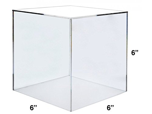 Marketing Holders Clear Acrylic 5 Sided Display Decor Riser Cube Box (1, 6''w) by Marketing Holders (Image #2)