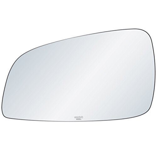 exactafit 8313L Replacement Driver Left Side Mirror Glass Flat Lens fits 08-12 Chevy Malibu 07-09 Saturn Aura by Rugged TUFF