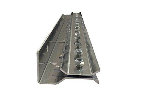 Resilia - Universal Industrial Mounting Hardware for Strip Curtain Doors - 3 Foot Aluminum Strip (1 - Aluminum Strip Door