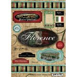Scrapbook Customs World Collection Italy Cardstock Stickers Travel Florence