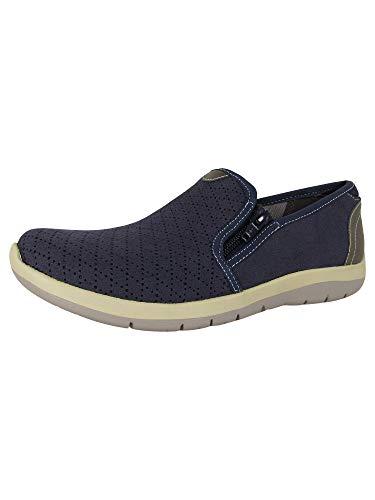 Aravon Women's Wembly Side Zip Fashion Sneaker Blue 8.5 D US
