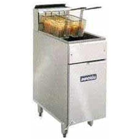 Imperial Commercial Fryer Gas Open Pot Stainless Steel Fry Pot Natural Gas Model Ifs 40 Op
