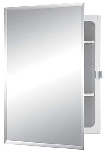 Jensen B7233B85PCX Bevel Mirror Positive Catch Medicine Cabinet, 16