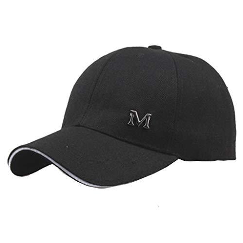 HYIRI Street Fashion Men and Women Summer Simple Baseball Hat Black]()