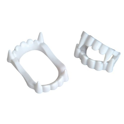 Fun Express White Plastic Halloween Vampire Teeth -