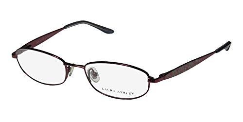 Laura Ashley Evangeline Womens/Ladies Designer Full-rim Eyeglasses/Spectacles (51-17-135, Plum) (Laura Ashley Eyewear Eyeglasses)
