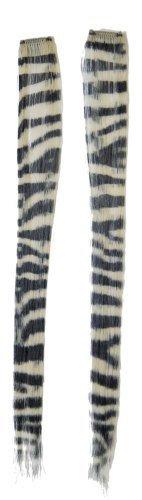 Morris Costumes Hair Extension Platinum Zebra -