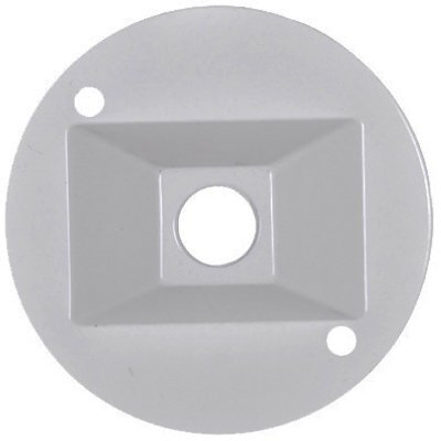 Hubbell Electrical Products RC-1-N-W White Weatherproof Round Lampholder Cover - Quantity 48