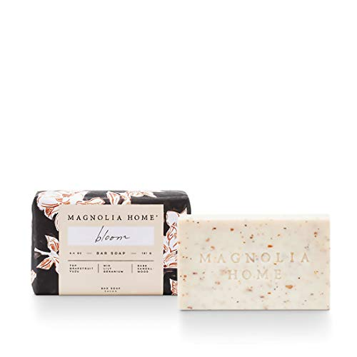 Magnolia Home Fragrance Bloom Scent 6.4 Ounce Wrapped Cleansing Bath Bar Soap