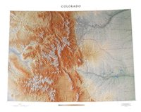 Colorado Topographical Wall Map by Raven Maps, Laminated Print