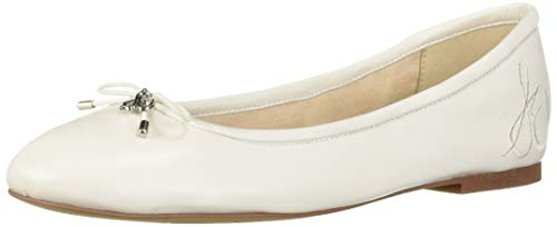Sam Edelman Women's Felicia Ballet Flat, Bright White Leather, 8 M -