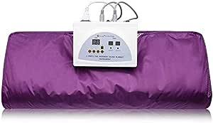 Crtkoiwa 2 Zone Digital Far-Infrared (FIR) Oxford Sauna Blanket Body Shaper Professional Detox Therapy Sauna Blanket(Purple)