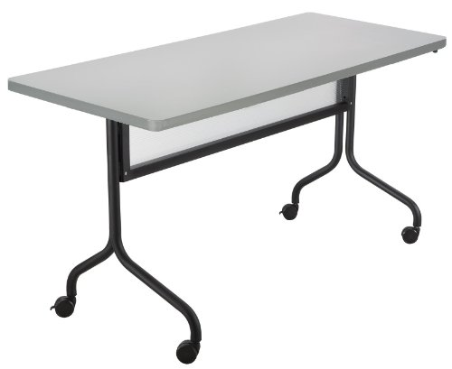 Safco Products 2072GRBL Impromptu Rectangle Mobile Training Table, 72''W x 24''D, Gray Top/Black Base by Safco Products